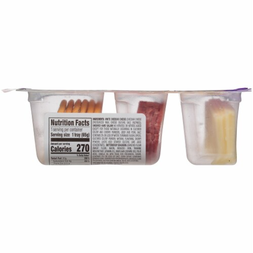 Hormel® Natural Choice™ Uncured Salami & Cheddar with Crackers Perspective: left
