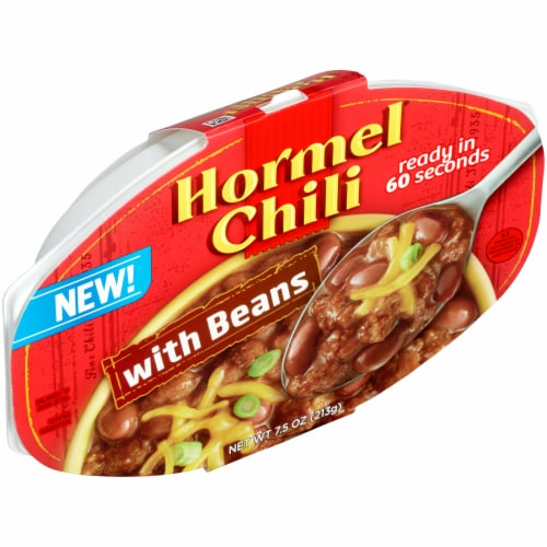 Hormel Chili with Beans Microwavable Tray Perspective: left