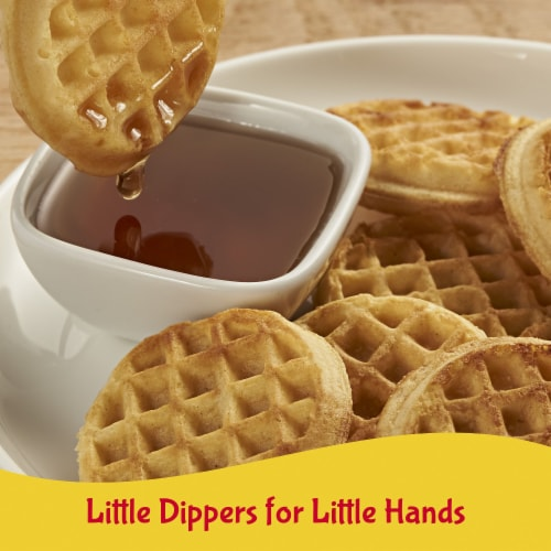 Eggo Minis Frozen Breakfast Waffles Homestyle Perspective: left