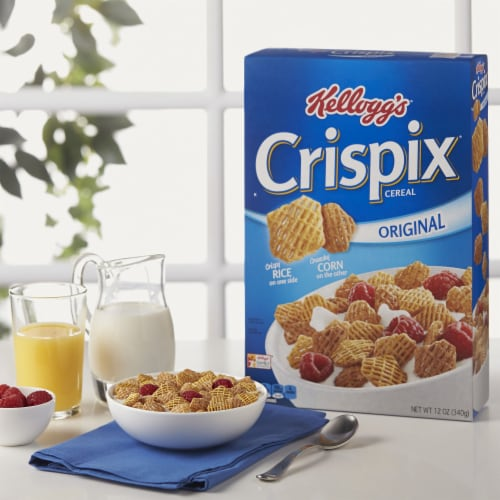 Kellogg's Crispix Breakfast Cereal Original Perspective: left