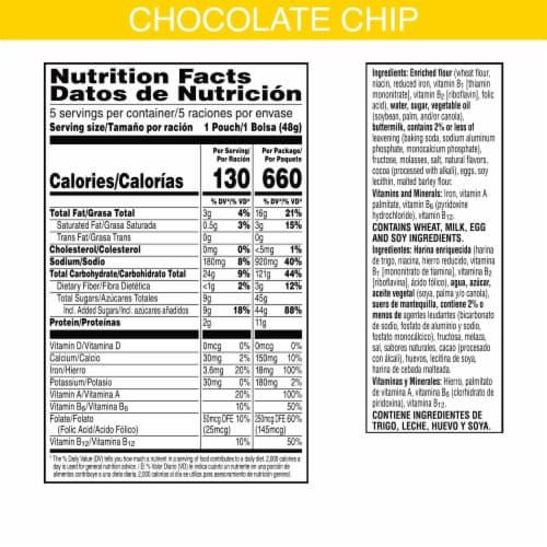 Kellogg's Eggo Frozen Breakfast Pancake Bites Chocolatey Chip Perspective: left