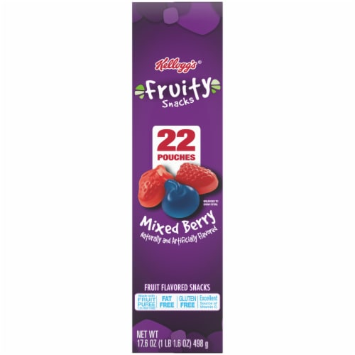 Kellogg's Mixed Berry Flavored Fruity Snacks Perspective: left