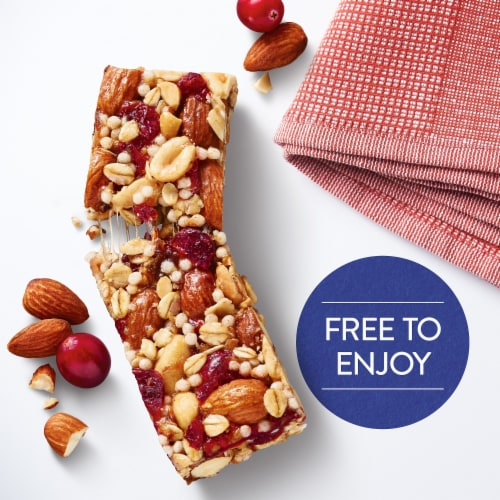 Kellogg's Special K Chewy Nut Bars Gluten Free Cranberry Almond Perspective: left