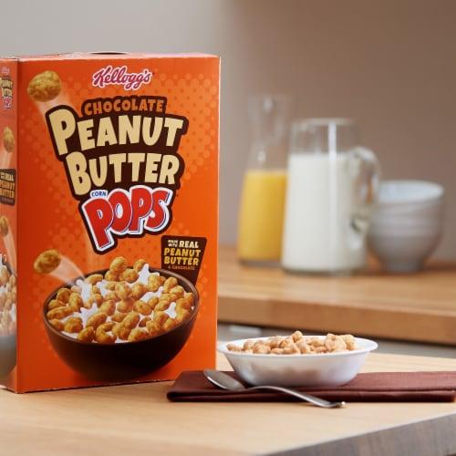 Kellogg's Corn Pops Breakfast Cereal Chocolate Peanut Butter Perspective: left