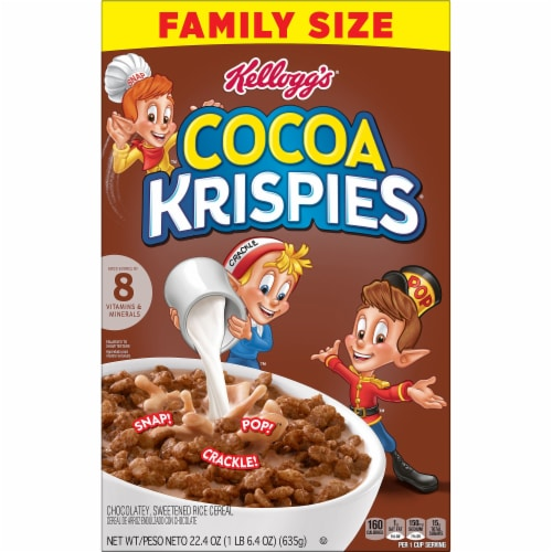 Cocoa Krispies Cereal Perspective: left