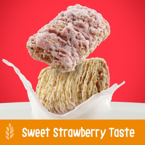 Kellogg's Frosted Mini-Wheats Breakfast Cereal Strawberry Perspective: left