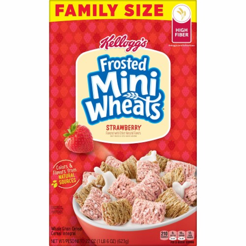 Frosted Mini-Wheats Strawberry Cereal Perspective: left