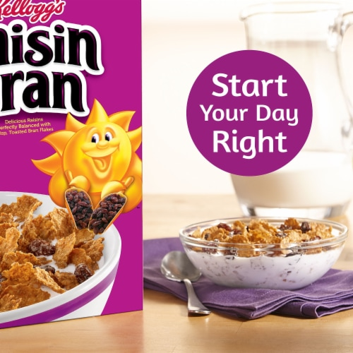 Kellogg's Raisin Bran Breakfast Cereal Original Perspective: left