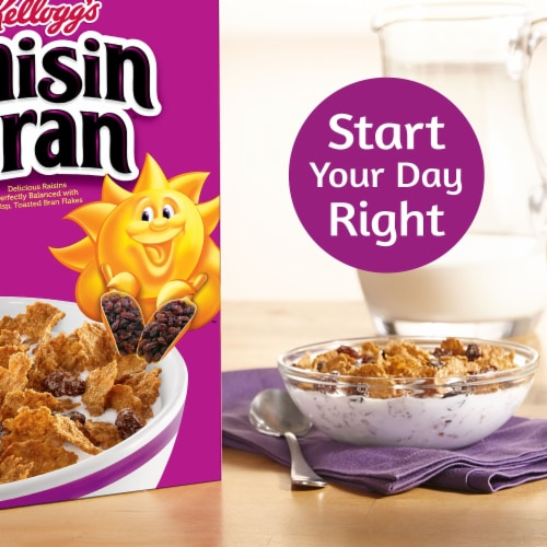 Kellogg's Raisin Bran Breakfast Cereal Original Family Size Perspective: left