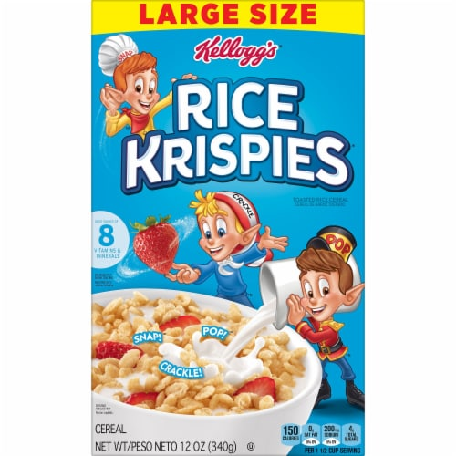 Kellogg's Rice Krispies Breakfast Cereal Original Perspective: left