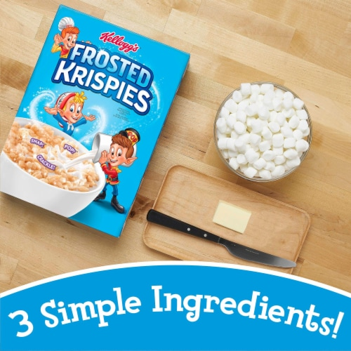 Kellogg's Frosted Krispies Breakfast Cereal Perspective: left