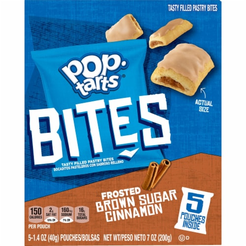 Kellogg's Pop-Tarts Filled Pastry Bites Frosted Brown Sugar Cinnamon Perspective: left