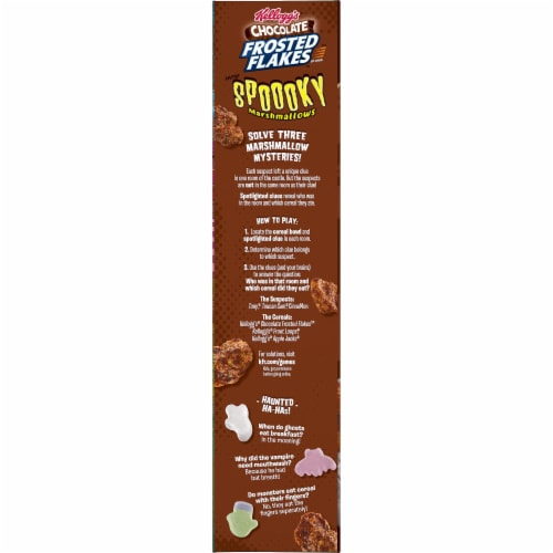 Kellogg's Frosted Flakes Chocolate Marshmallow Cereal Perspective: left