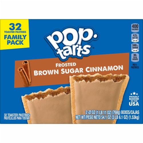 Pop-Tarts Frosted Brown Sugar Cinnamon Toaster Pastries Perspective: left