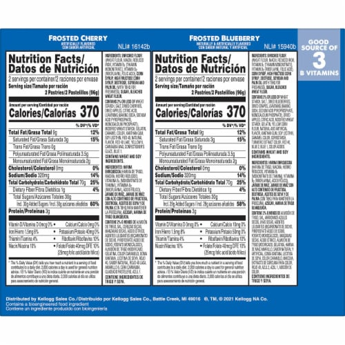 Pop-Tarts Frosted Strawberry Cherry & Blueberry Toaster Pastries Variety Pack Perspective: left