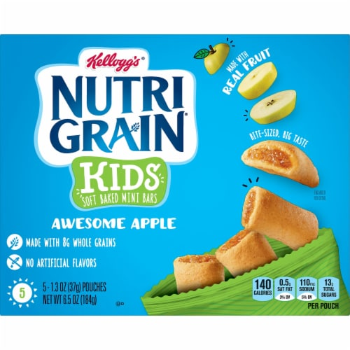 Kellogg's Nutri-Grain Bites Apple Mini Breakfast Bars Perspective: left