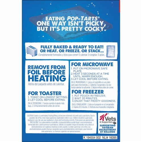 Pop-Tarts Limited Edition Red White & Blueberry Toaster Pastries Perspective: left