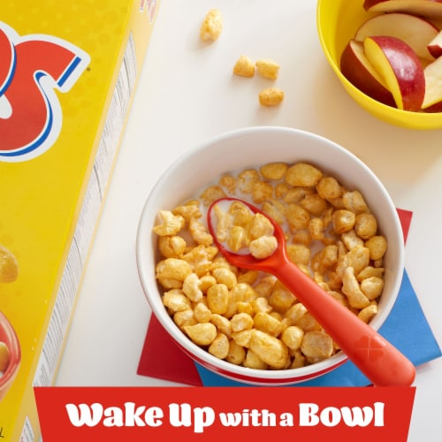 Corn Pops Sweetened Corn Cereal Perspective: left