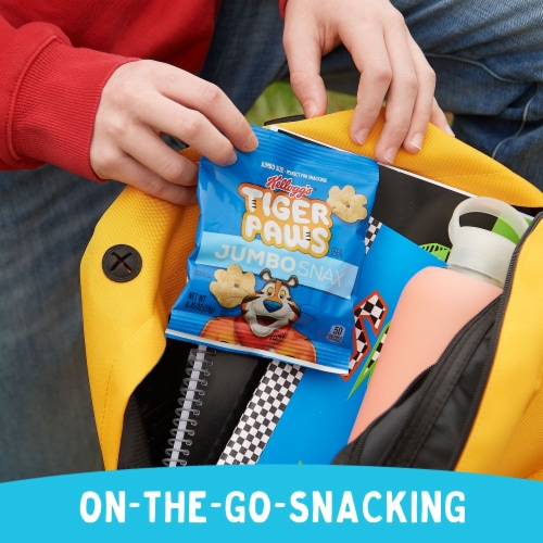Kellogg's Jumbo Snax Tiger Paws Original Snacking Cereal Perspective: left