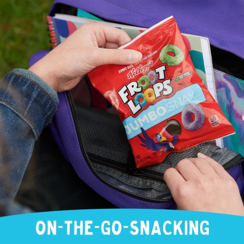 Froot Loops Jumbo Snax Snacking Cereal Perspective: left