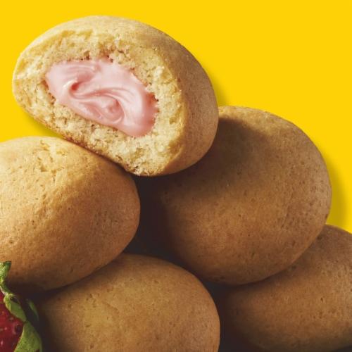Eggo Frozen Breakfast Strawberry Stuffed Pancake Bites Perspective: left