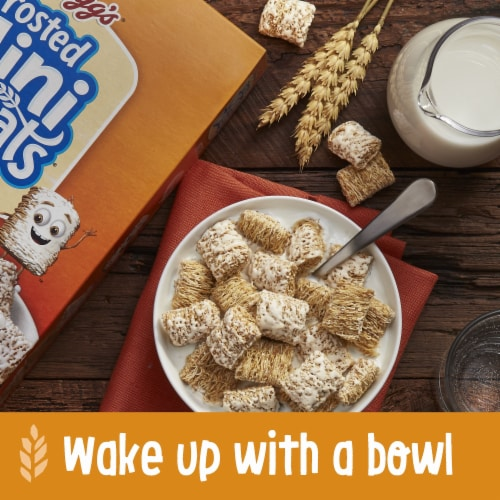 Kellogg's Frosted Mini-Wheats Breakfast Cereal Original Family Size Perspective: left