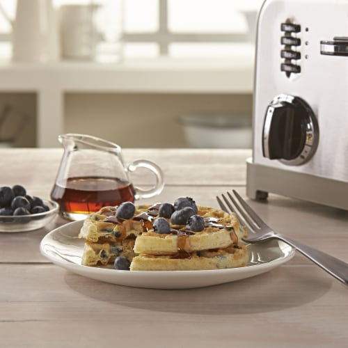 Eggo Frozen Breakfast Waffles Blueberry Family Pack Perspective: left