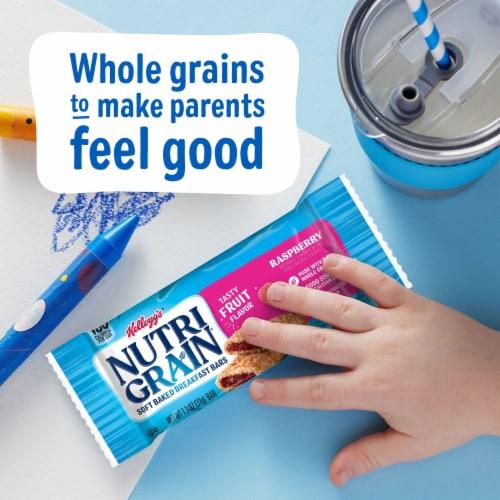 Kellogg's® Nutri-Grain® Raspberry Soft Baked Breakfast Bars Perspective: left