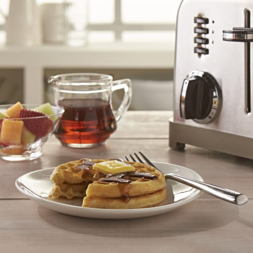 Kellogg's Eggo Frozen Breakfast Waffles Homestyle Perspective: left