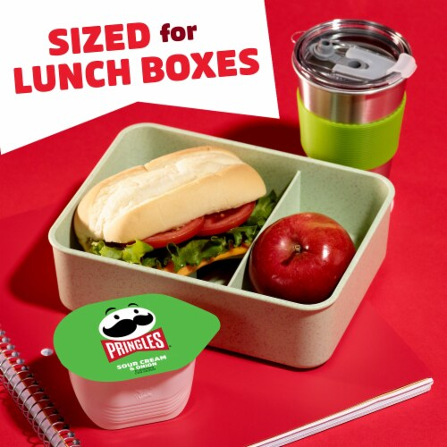 Pringles Snack Stacks Potato Crisps Chips Sour Cream and Onion Flavored Perspective: left