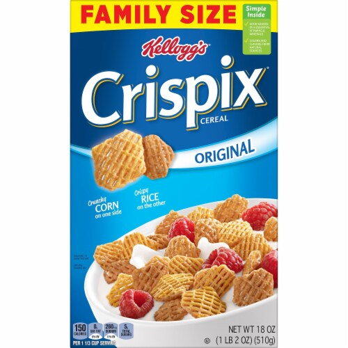 Crispix Cereal Perspective: left