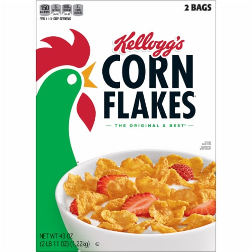 Kellogg's Corn Flakes Cereal Perspective: left