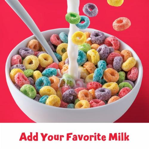 Kellogg's Froot Loops Original Breakfast Cereal Perspective: left