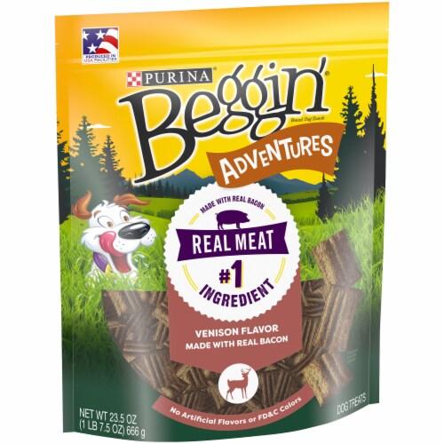Beggin' Adventures Venison Flavor Dog Treats Perspective: left