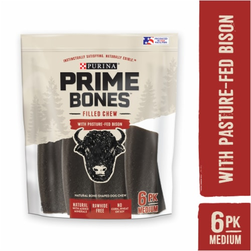 Purina Prime Bones Bison Dog Treat Chew Sticks Perspective: left