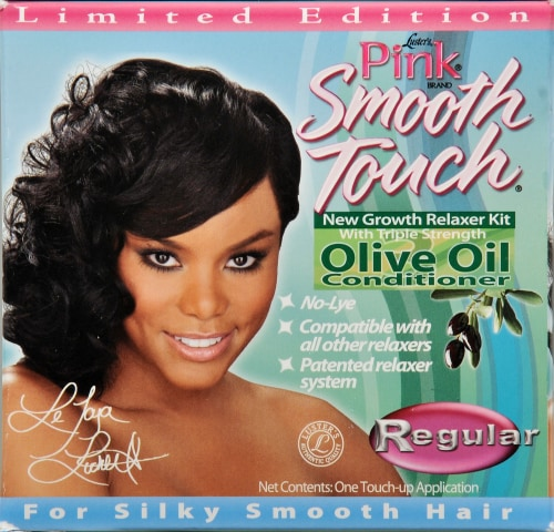 Lusters Pink Smooth Touch Relaxer Perspective: left