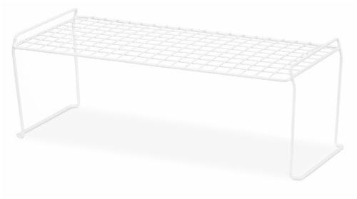 Whitmor Long Stacking Shelf - White Perspective: left