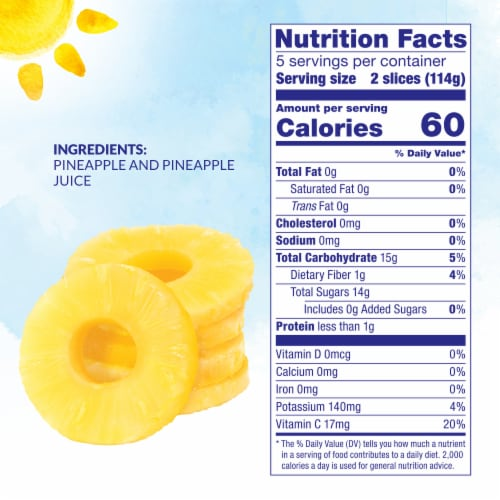 Dole® Pineapple Slices in 100% Pineapple Juice Perspective: left
