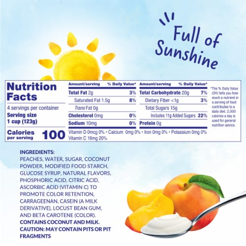 Dole Peaches & Creme Parfait Cups Perspective: left
