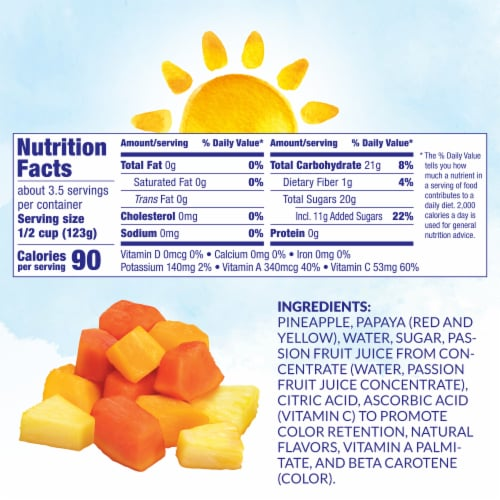 Dole Canned Tropical Fruit in Light Syrup & Passion Fruit Juice Perspective: left
