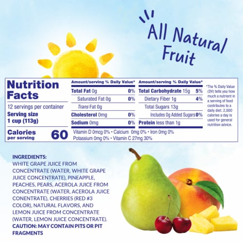 Dole® Cherry Mixed Fruit in 100% Fruit Juice Cups Perspective: left