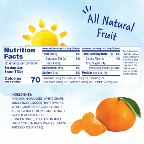 Dole Mandarin Oranges in 100% Fruit Juice Perspective: left