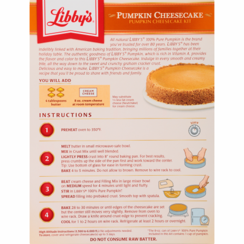King Soopers Libby S Pumpkin Cheesecake Kit 17 75 Oz