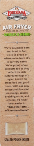 Louisiana Fish Fry Air Fryer Garlic & Herb Seasoned Coating Mix Perspective: left