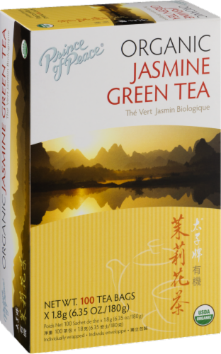 Prince of Peace Organic Jasmine Green Tea Perspective: left