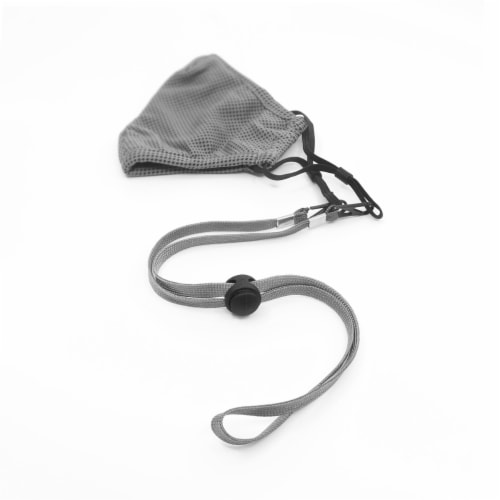 Grand Fusion Gray Mask Lanyard - 3 Pack  (6 Total) Perspective: left