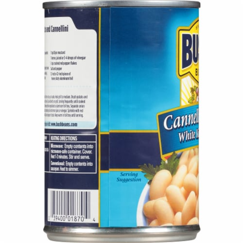 Bush's Best Cannellini White Kidney Beans Perspective: left
