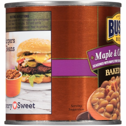 Bush's Best® Maple Cured Bacon Baked Beans Perspective: left