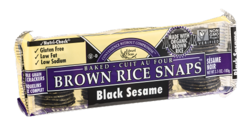 Edward & Sons Black Sesame Brown Rice Snaps Perspective: left