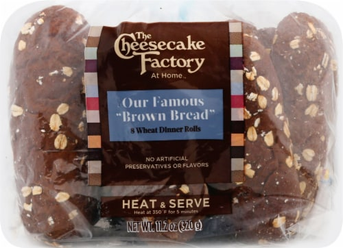 The Cheesecake Factory At Home Wheat Dinner Rolls 8 Count Perspective: left